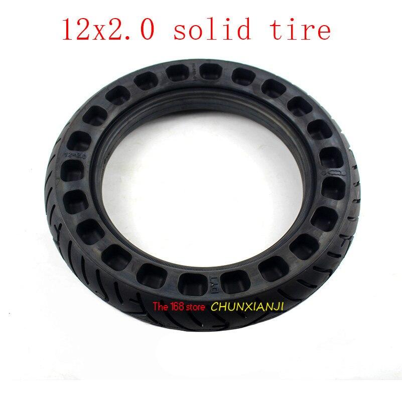 Taille 12 pouces Non gonflable tubeless solide roue pneu 12x2.0 12x2.125 pour beaucoup de scooter de gaz e-bike Hoverboard auto BalancingParts