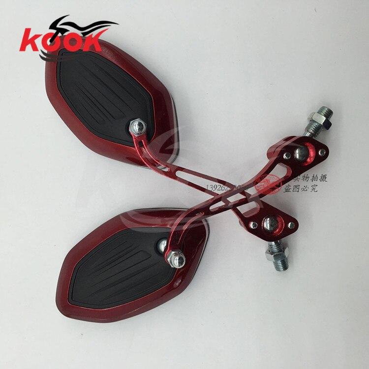 Freies verschiffen motorrad rückspiegel 10mm 8mm schraube universelle motorrad rückspiegel für yamaha spiegel dirt pit bike