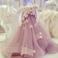 Gorgeous Pink Glitz First Communion Dresses Mother Daughter Gowns Flower Girl Dresses For Wedding Kids Pageant