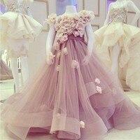 Prachtige Roze Glitz Eerste Communie Jurken Moeder Dochter Jurken Bloem Meisje Jurken Voor Bruiloft Kids Pageant Dress Custom Made