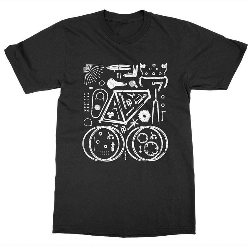 T Shirt Design Shop Short Sleeve Fashion 2018 Crew Neck Biker Pedal Ride Cycler Spin Gea Tee Shirts For Men