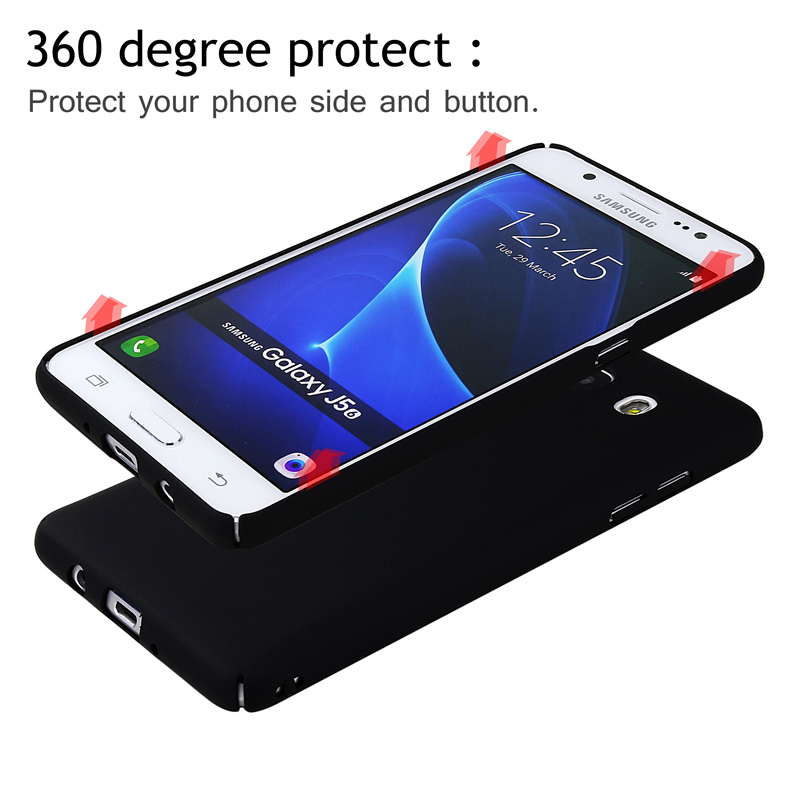 factory price 13a1c 20803 US $1.79 10% OFF Case For Samsung Galaxy J5 2016 J510F 2015 360 Degree Full  Protection Matte Plastic Phone Back Cover Cases For Samsung J5 2016-in ...