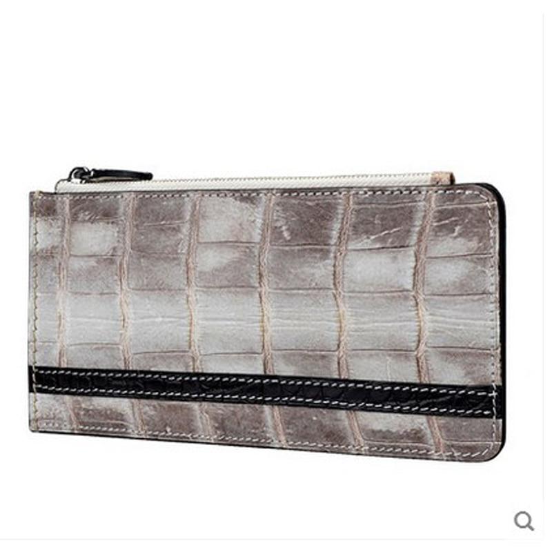 все цены на jialante Crocodile belly card bag multi-card men and women's bank card bags genuine leather wallet онлайн