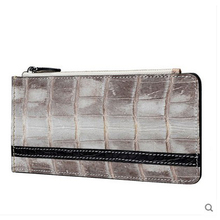 jialante Crocodile belly card bag multi-card men and women's bank card bags genuine leather wallet