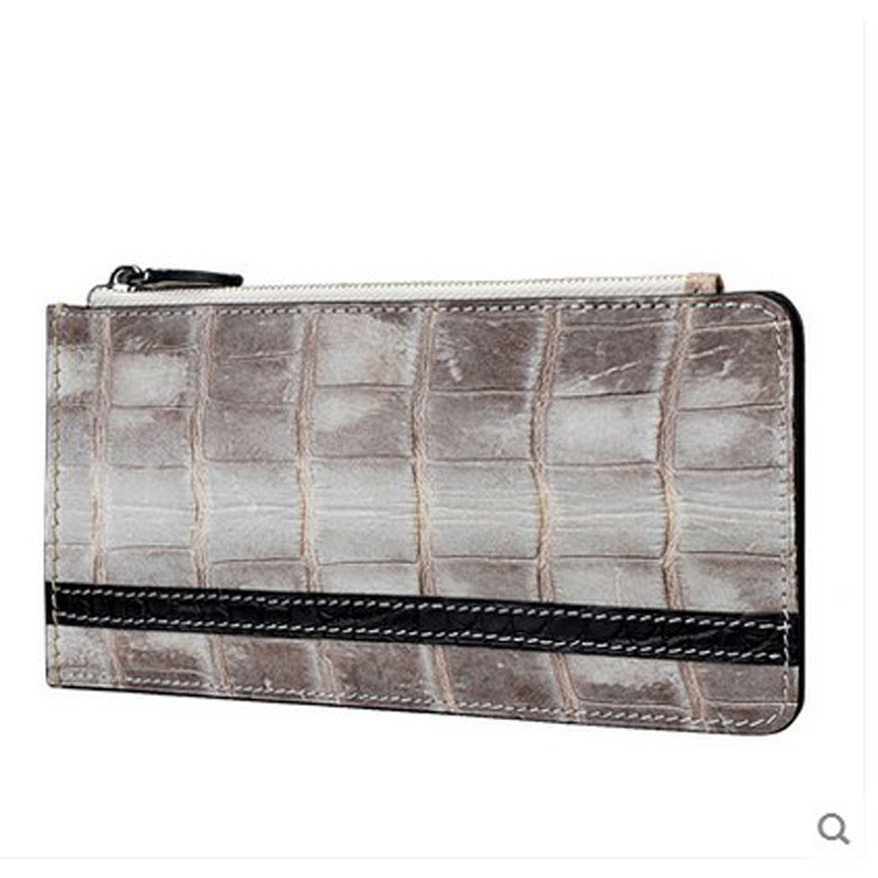 jialante Crocodile belly card bag multi card men and women's bank card bags genuine leather wallet
