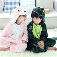Children Unisex Dinosaur Kids Flannel Animal Pajamas Anime Cartoon Costumes Sleepwear Cosplay Onesie Dragon One Piece