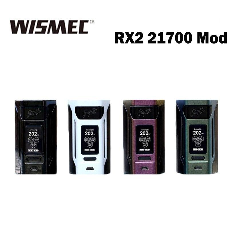 Cigarette électronique Wismec Reuleaux RX2 21700 230 w RX2 21700 Boîte Vaporisateur MOD avec 21700 Batterie Vaporisateur
