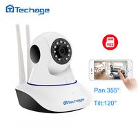 Techage Home Security 720P Wifi IP Camera Audio SD Card Onvif P2P CCTV Mini Wireless Camera