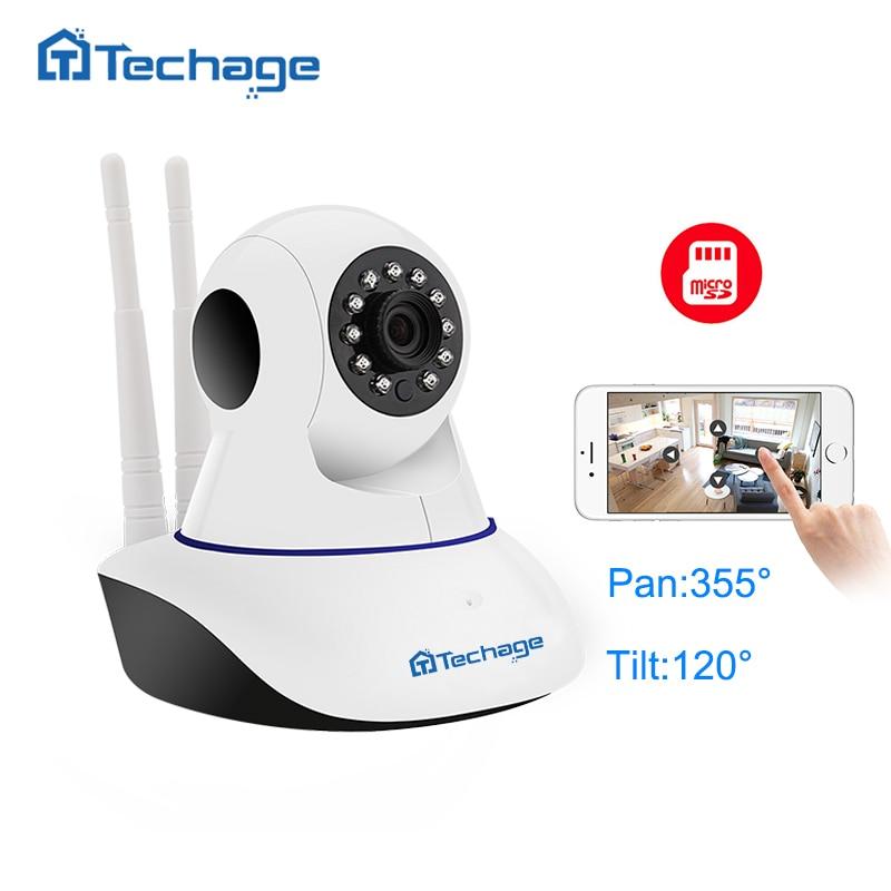 где купить Techage Home Security 720P 1080P Wifi IP Camera Audio Record SD Card P2P HD CCTV Surveillance Wireless Camera Baby Monitor по лучшей цене