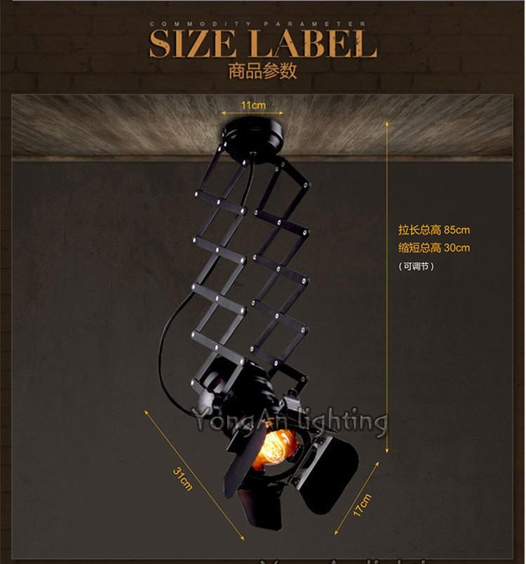 free shipping Designer loft vintage industrial lighting foldable lamp pendant lamp 8
