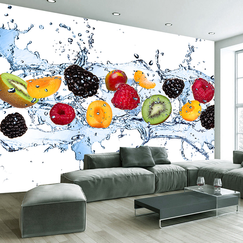 Kitchen Background Design: Fresh Fruit Photo Wallpaper Restaurant, Living Room, Kitchen