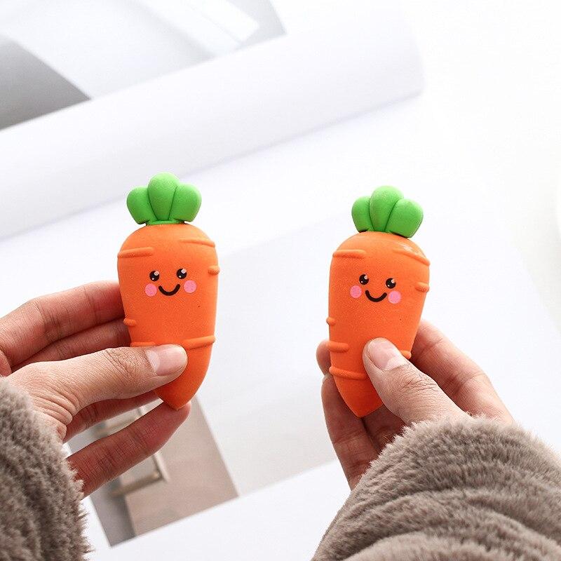 Novelty Large Carrot Eraser Rubber Eraser Primary Student Prizes Promotional Gift Stationery