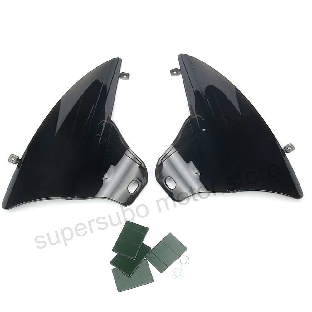 Motorcycle Smoke Saddle Shield Heat Deflector For Harley 2009 2016 Touring FLHT FLTR FLHR