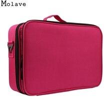 MOLAVE kosmetiktasche 3 Schichten Wasserdicht Make-Up Tasche Reise Fall Pinsel Halter mit Verstellbare reise kosmetiktasche dec14