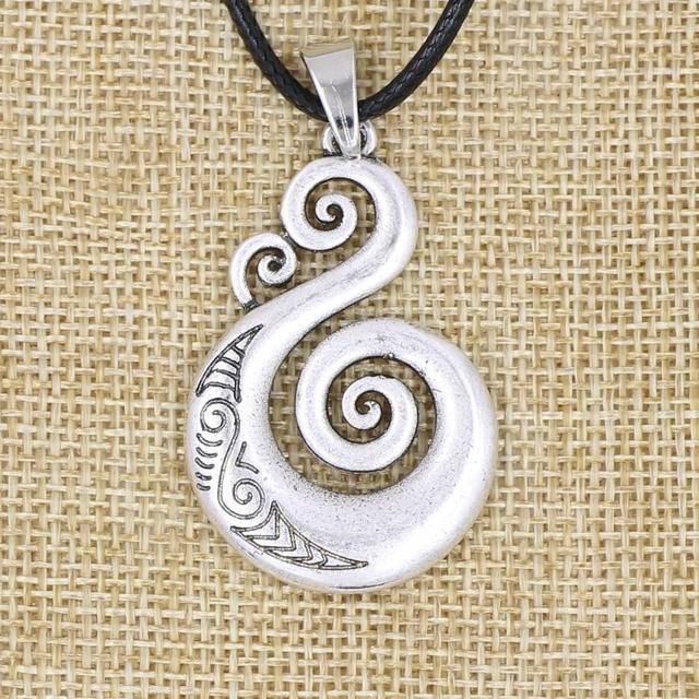 Pikorua Necklace Pendant Maori Twist Symbol Mask Manaia Koru Tribal