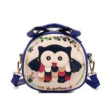 Free Shipping fashion Cross Body Bag women leather handbag cartoon owl shoulder bags