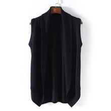 Sleeveless Sweater Vest Knitting Cardigan Male Black Fashion Design Shawl Cardigan Men Sweater Hombre Sleeveless Coat