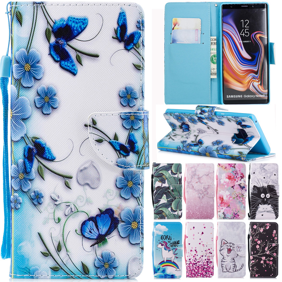 Note 9 Leather <font><b>Case</b></font> on for <font><b>Samsung</b></font> Galaxy Note 9 8 J3 J4 J6 J8 J2 PRO A6 A8 <font><b>S9</b></font> S8 Plus S7EDGE 2018 Cover Wallet <font><b>Flip</b></font> Phone <font><b>Cases</b></font> image