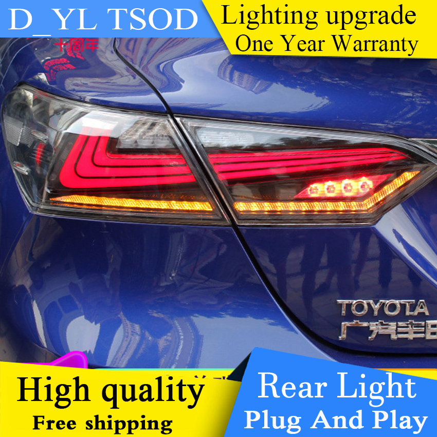 Car Styling Tail Lights case for Taillight case for Toyota camry 2017 2018 RS TYPE Tail