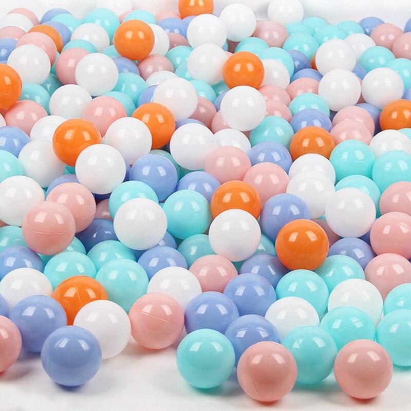 Boules de fosse en plastique de 7 cm-les enfants qui respecte l'environnement sûrs de 50pcs jouent le jouet de boule de piscine, plus durable pour le bébé d'enfant en bas âge de bébé