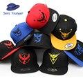 Snap back chapéus Jogo Pokemon QUENTE Go snapback Boné de Beisebol casquette Valor Místico Instinto Homem hip hop Mulheres PK31