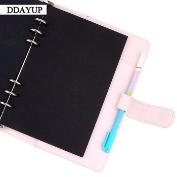 40 Sheets A5 A6 A7 Black Card Handmade Notebook Inside Pages Stationery Office School Supplies