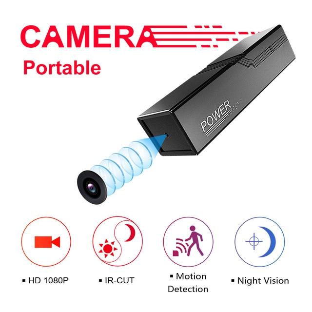 K1 IR-CUT Mini Câmera Portátil HD 1080 p Ao Ar Livre Câmera Infravermelha Noite Câmera De Detecção De Movimento Cam