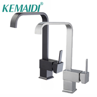 KEMAIDI Kitchen Basin Sinks Faucet New ORB Chrome Polished Black Brass Swivel 360 Degree Rotating Kitchen
