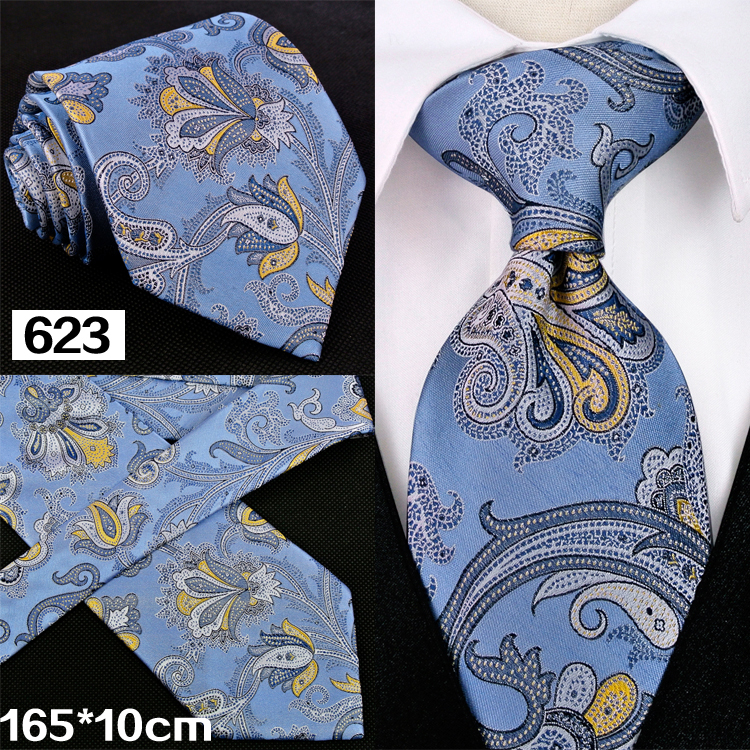 Paisley Floral Multicolore Marine Bleu Jaune Vert Rose Rouge Argent Gris  Orange Hommes Cravates Cravates 100% Soie Livraison Gratuite Main 6cd921c94fd