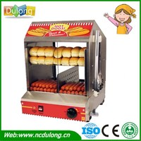 1 Piece Commercial 220V Countertop Electric Hot Dog Steamer Warmer Display Showcase UK Stock