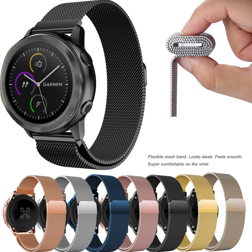 Milanese Loop Magnetic Wrist Strap For Garmin Forerunner 645 / Vivomove HR Watchband Band Stainless Steel Bracelet Watchband