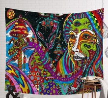 CAMMITEVER Abstract Woman Geometric Wall Tapestry Cloth Psychedelic