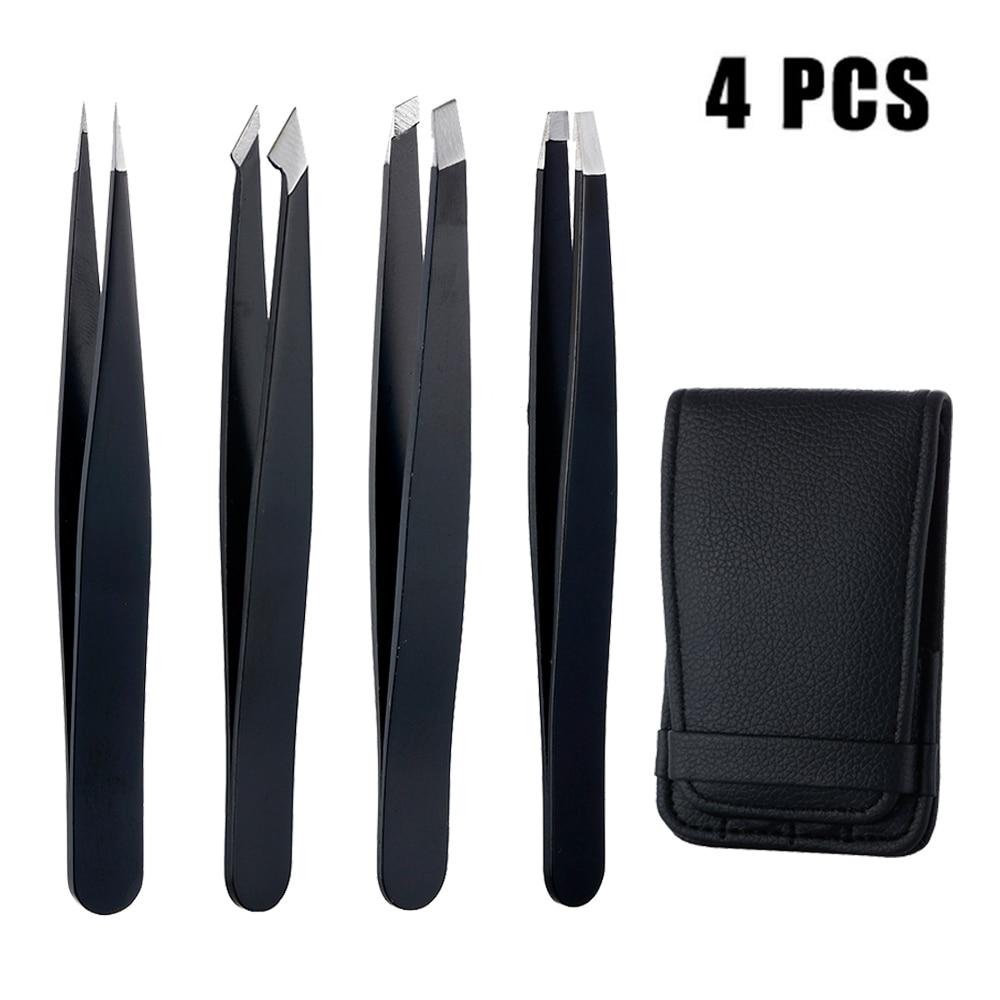 4pcs-anti-static-stainless-steel-tweezers-maintenance-tools-industrial-precision-straight-tweezers-repair-tools-for-eyebrow-diy