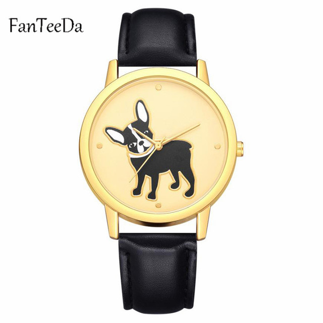 FanTeeDa Watches Women Quartz Clock Top Brand Watches Leather Women Watch Causal