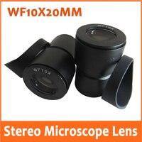 WF10x Weitwinkel 20mm Montage Größe 30mm Stereo Mikroskop Optische Okular Objektiv für Schule mit Eyeshade Gummi Auge wachen