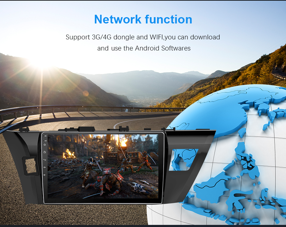 Discount Eunavi 4G+32G Octa 8 core android 9.0 car dvd for Toyota Corolla E180 2013-2016 multimedia car radio gps navi PX6 Radio WIFI 13