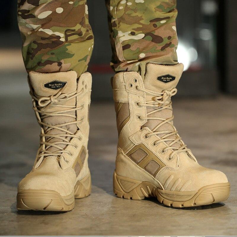 Do Bota Terra Askeri Zapatos De Bot Desert Combate Homens Botas Sapatos Sapato Genuíno Couro Hombre Masculina black Inverno Militar Exército Madeira vfpwqFw