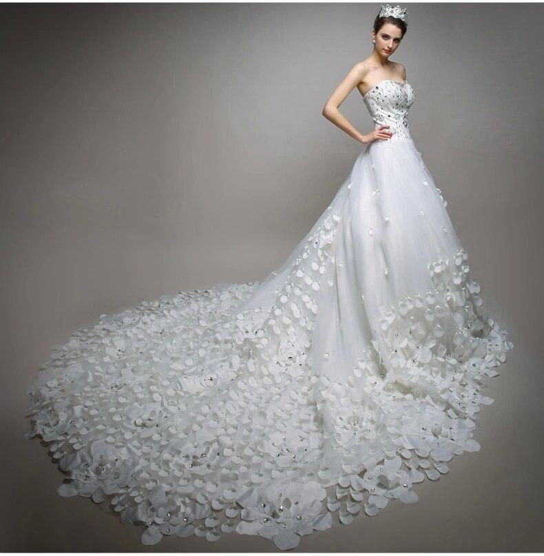 2015 Elegant Backless Chiffon Bride Dress Latest Design