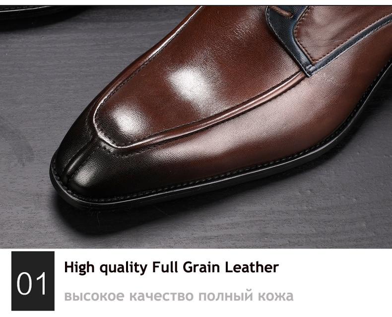 Men's Casual Shoe Business Mens Genuine Leather Shoes Men Big Size 45 Casual Leather Oxford Shoes For Men Lace Up Brogues Formal (7)