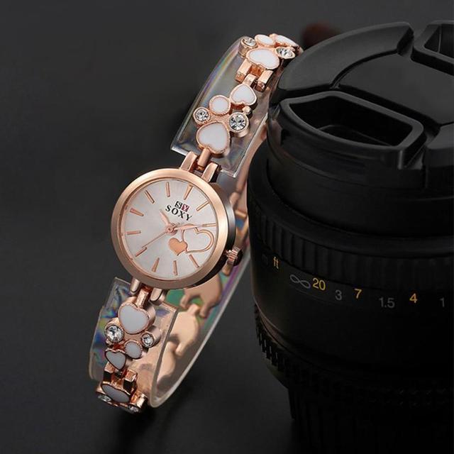 Women Bracelet Wrist Watch Rose Gold Female Girl Gift Alloy Quartz Watch reloj Mujer Pulsera ladies Watch