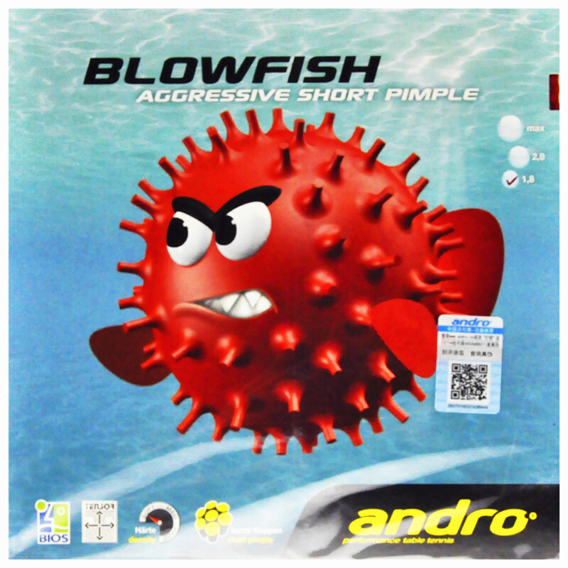 Andro Table Tennis Rubber Blowfish Aggressive Short Pimples Out With Sponge Ping Pong Pips-in Accessories Tenis De Mesa
