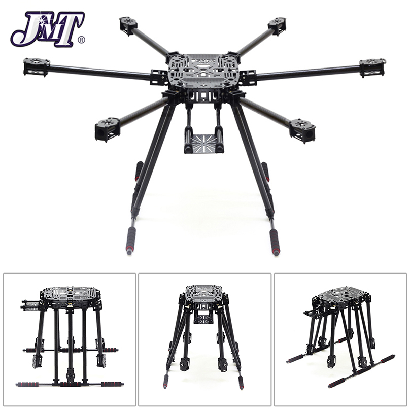 JMT ZD850 Full Carbon Fiber Frame Kit with Unflodable Landing Gear Foldable Arm ZD 850 for DIY FPV Aircraft Hexacopter