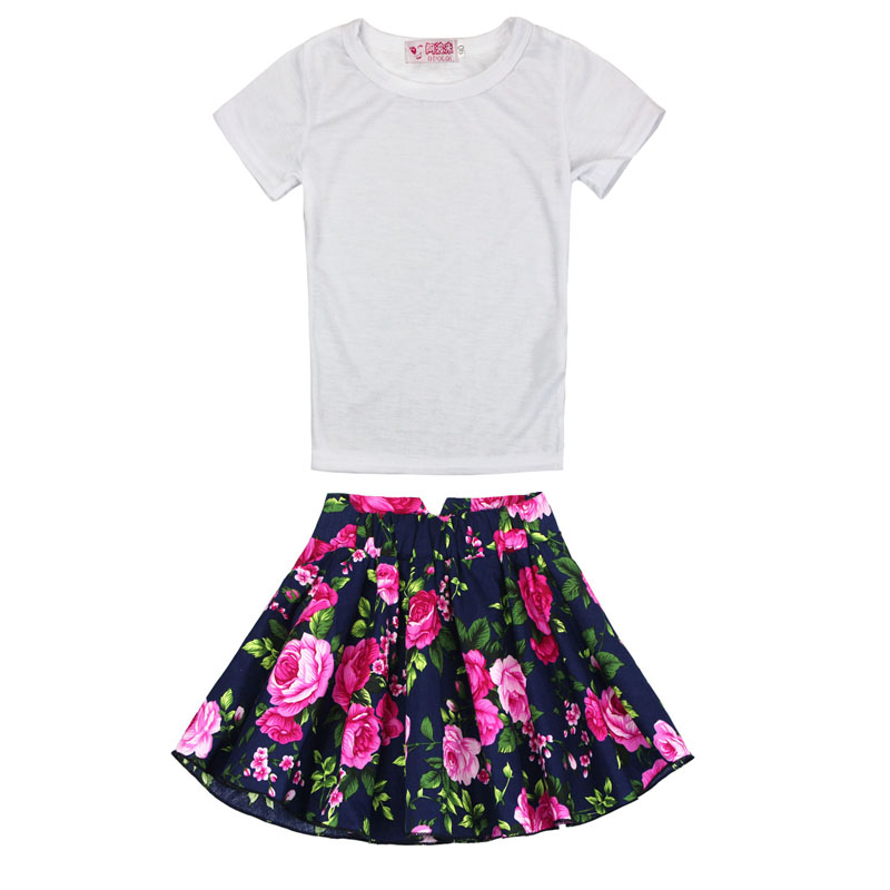11.11 2017 Children Baby Clothing Girl Set Cute Flowers Toddler T-Shirt Dress Suit Newborn Kids Clothes Set For Girls Boy
