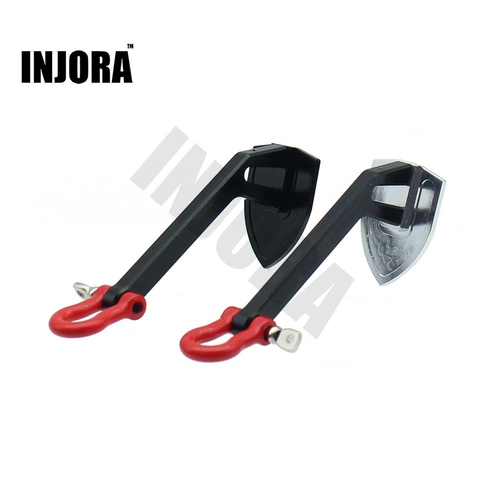 INJORA Metal Winch ancla tierra ancla decoración herramienta para 1/10 RC Crawler Car Axial SCX10 90046 D90 Tamiya CC01 Traxxas TRX4