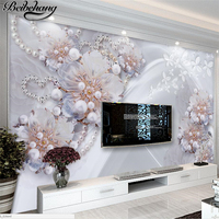 Beibehang Custom Wallpaper 3d Photo Wallpapers Three Dimensional High End Fine Jewelry Flowers Living Room TV