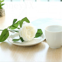 10pcs/set White Rose Flowers Bouquet Royal Rose Upscale Artificial Flowers Faux Silk Flower Roses Home Decor Wedding Decoration