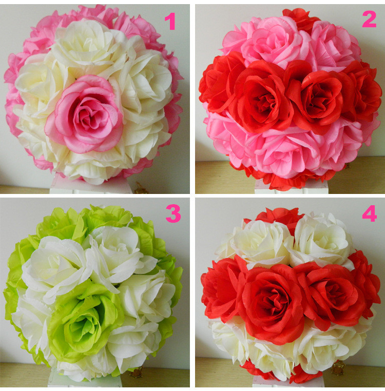 Wholesale sale 10 25cm high quality silk flowers centerpieces wholesale sale 10 25cm high quality silk flowers centerpieces weddings flower ball centerpieces decorative kissing balls red in artificial dried mightylinksfo
