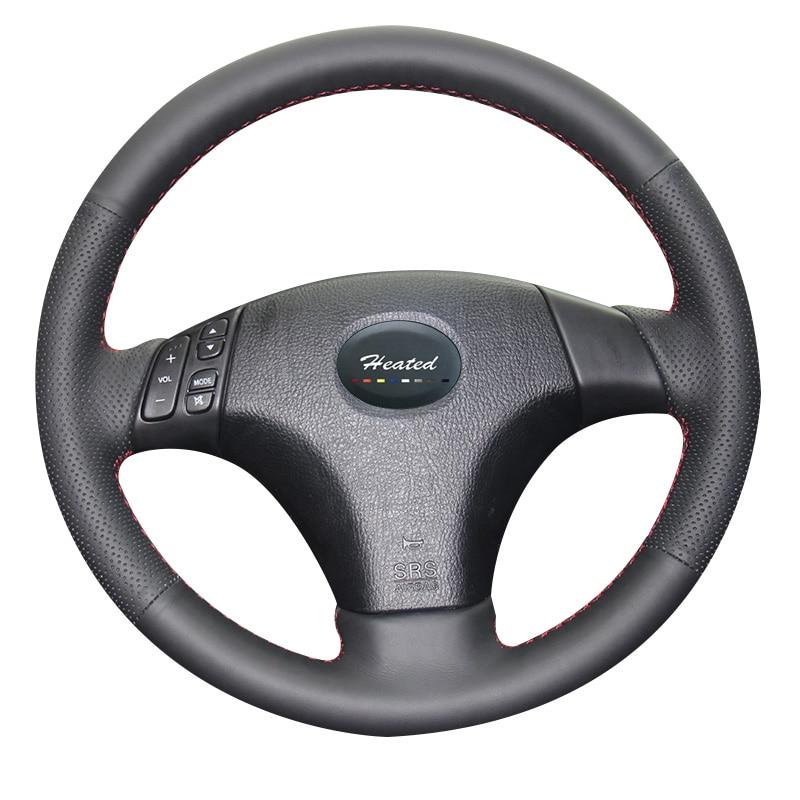 Car Steering Wheel Cover for Mazda 3 Axela 2003 2009 Mazda 6 Atenza 2004 2008 Mazda 5 2004 2010 braid on the steering wheel