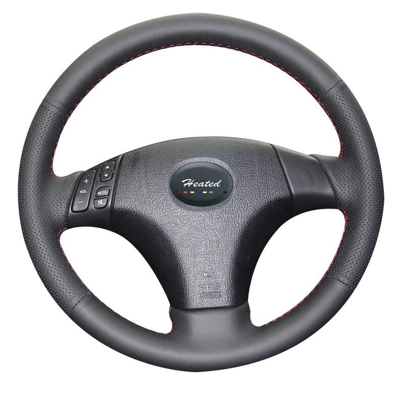 Car Steering Wheel Cover for Mazda 3 Axela 2003-2009 Mazda 6 Atenza 2004-2008 Mazda 5 2004-2010 braid on the steering wheel
