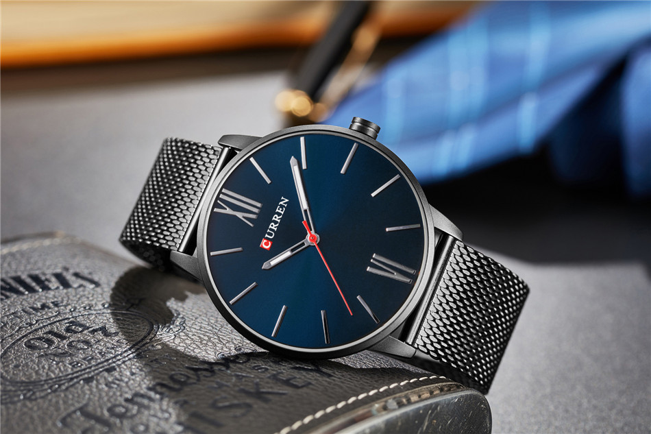 HTB1bosQRXXXXXc1XFXXq6xXFXXXa - CURREN Luxury Stainless Steel Business Watch for Men